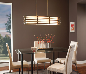 Lighting a Family Room with ceiling fan lights - Kichler Lighting